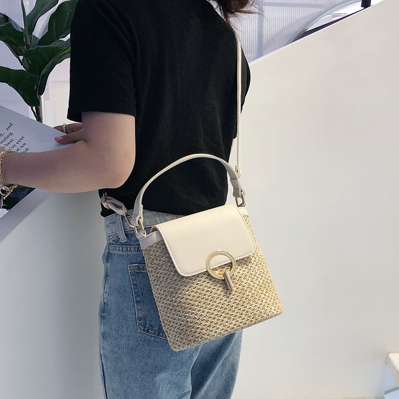 HTB1xAXgS3HqK1RjSZFPq6AwapXaW - Small Straw Bucket Bags For Women Summer Crossbody Bags Lady Travel Purses and Handbags Female Shoulder Messenger Bag