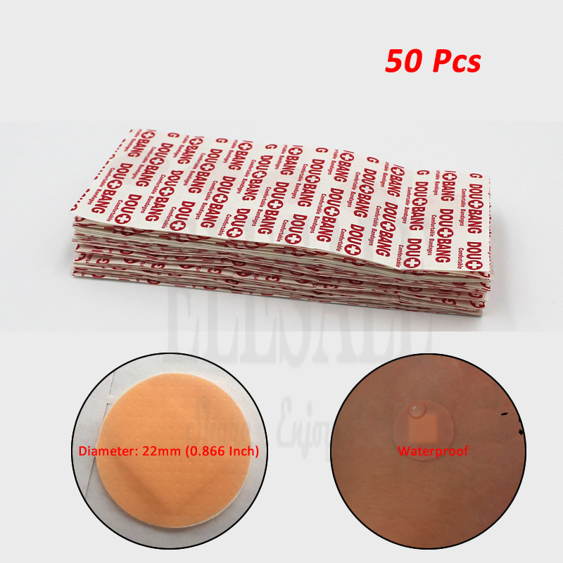 50pcs Round Band Aid Medical Anti-Bacteria Wound Adhesive Paste Waterproof Wound Plaster For First Aid Kit Emergency Kits 30pcs pack random cartoon wound paste first aid band medical waterproof adhesive bandages wound dressing band for baby care