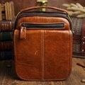 Vintage Oil wax Genuine Leather Men bag messenger Business Men's Handbag Bags  Casual small shoulder bags men's Travel bag