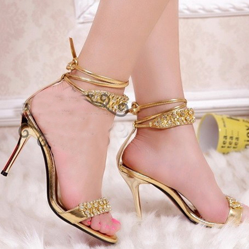 De Prom Partido Sandalias Heel Sexy Nupcial Zapatos Zapatos Señora Heel Plata Moda Tacón Alto Rhinestone Honor Para Verano 9cm silver boda La Dama Gold xEPdggvn8
