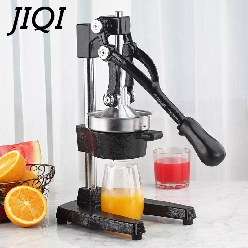 JIQI Stainless Steel Citrus Fruits Squeezer Orange Lemon Manual Juicer Lemon Fruit Pressing Machine Hand Press Home commecial