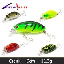CRANK BAITS 6cm 11.3g Swim Fish Fishing Lure Artificial Hard Crank Bait topwater Wobbler Japan Mini Crankbait lure YB505