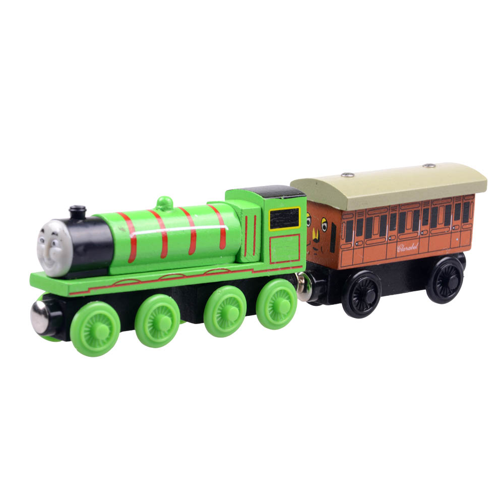 2pcs/lot Baby educational vehicle toys Wooden Magnetic Tomas Railway Train head Henry and clarabel car