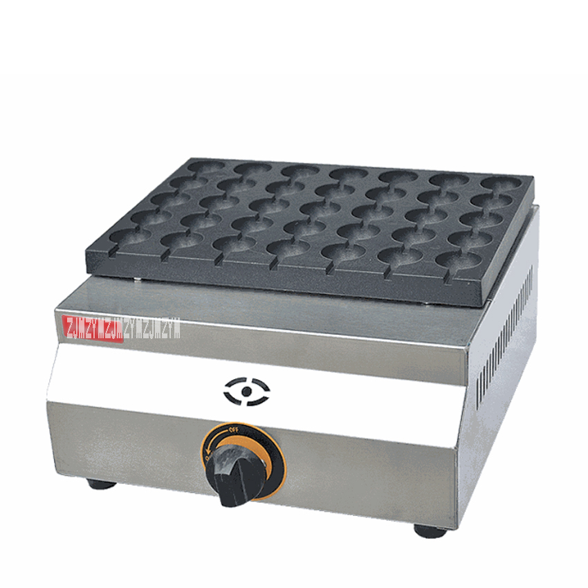 1PC FY-35.R 35 Holes Commercial Gas Type Quail Eggs Maker Grill Takoyaki Maker/ Meatball Maker free shipping gas meatball maker three plate takoyaki machine
