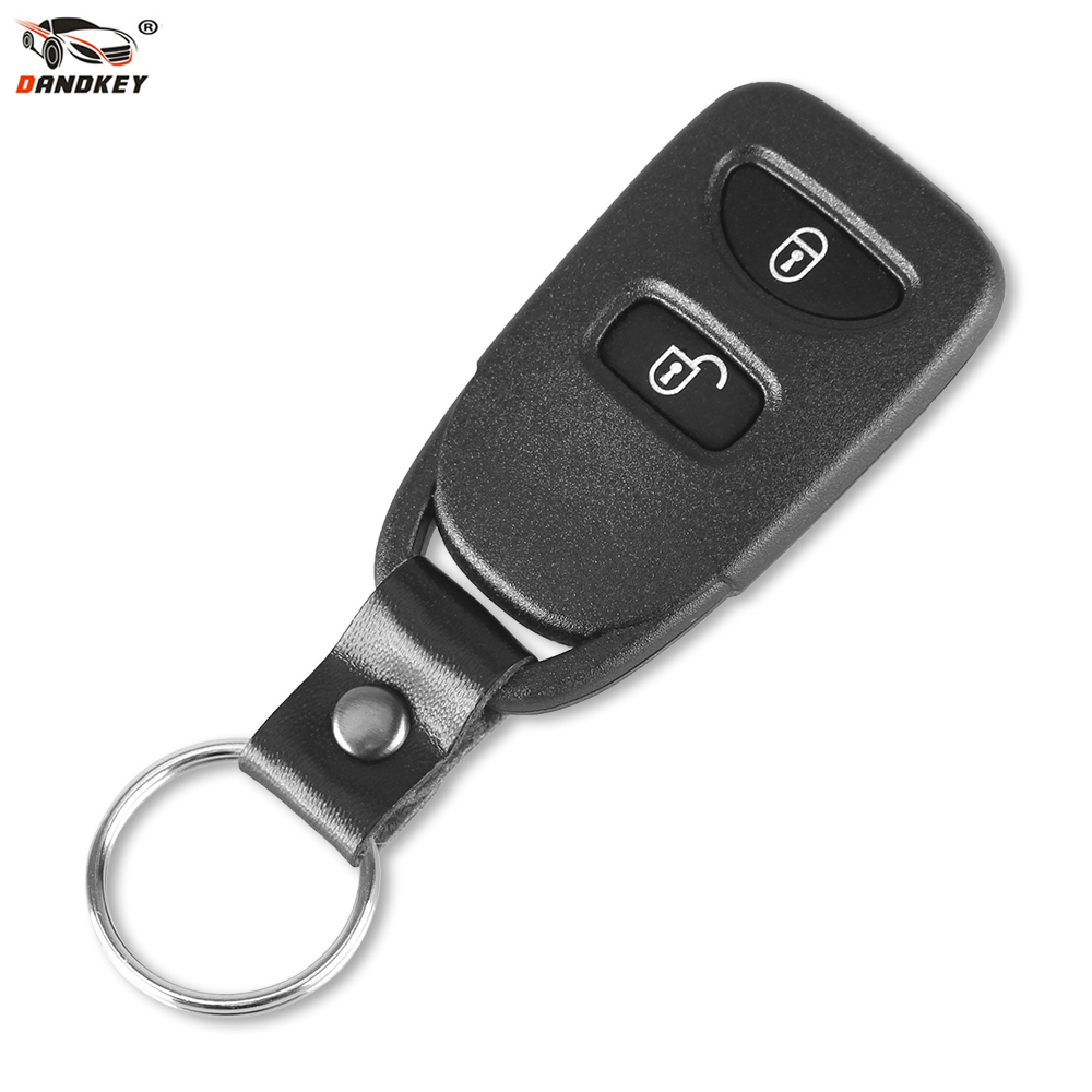 DANDKEY Replacement 2 Buttons Remote Car Key Case Shell Cover Fob For HYUNDAI Tuscon 2005-2009 Accent 2005-2008 ...