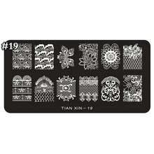 1pcs Nail Stamping Plates Flower Design Stamping Plate Nail Art Image Plate Stamp Stamping Plates Manicure Template TX19