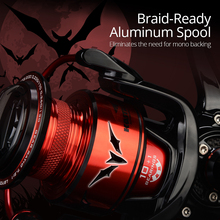 7.2:1 Gear Ratio Metal Body Spinning Reel