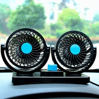12V 24V Mini Air Conditioner For Car Electric Air Cooling Fan Rotating 2 Gears Portable Car