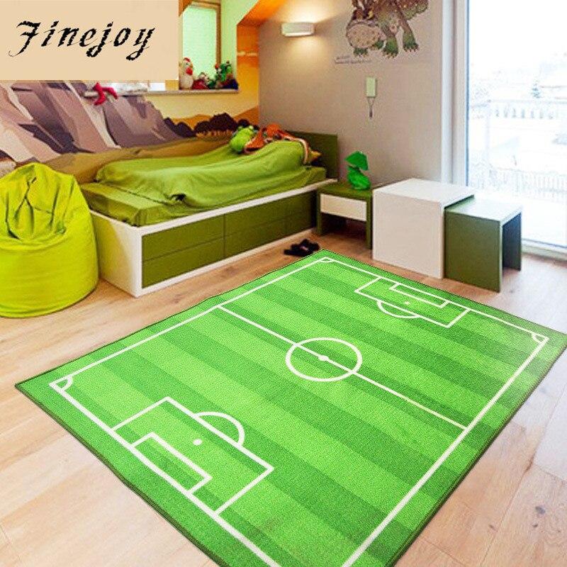 Verrassend Fijne vreugde Groen Voetbal Veld Capets Vloerkleed Mat Antislip ST-11