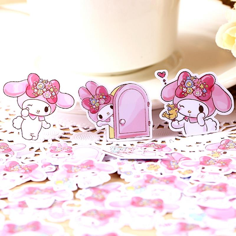 1 Pack Exquisite My Melody Stickers Diary Label Stickers Decor Scrapbooking DIY Stickers Classic Toy For Kids Gift