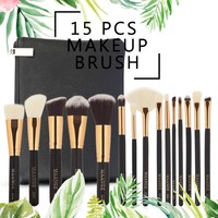 MAANGE 15pcs Profession Makeup Brushes Set With Natural Hair Make Up Brushes With Bag High Quality