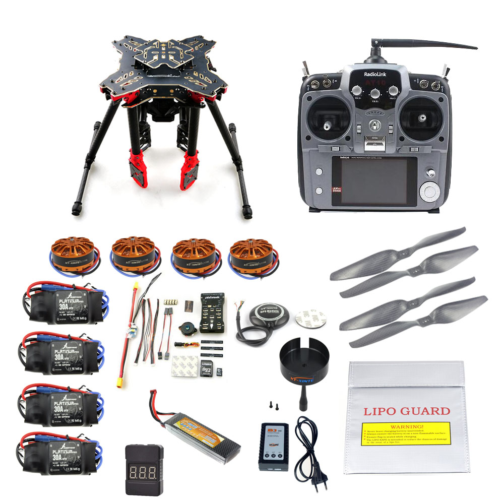 JMT DIY GPS Drone RC Quadcopter HMF U580 Totem Series PIX Flight Control 700KV Motor 30A ESC Radiolink AT10 TX&RX Full set naza m v2 flight control