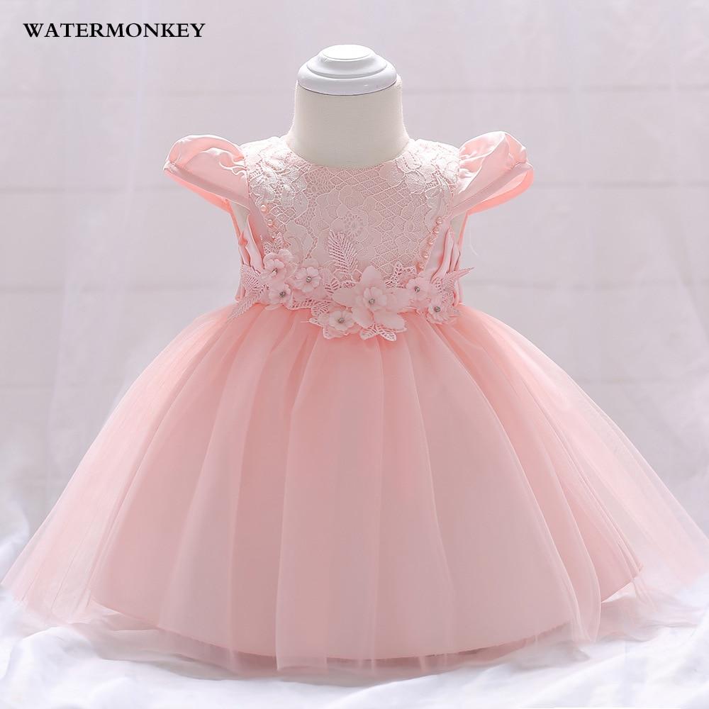 Baby Girl Princess Dress 2018 Sommarblomma Snör Tutu Tulle ... ac1ab212bb9ed
