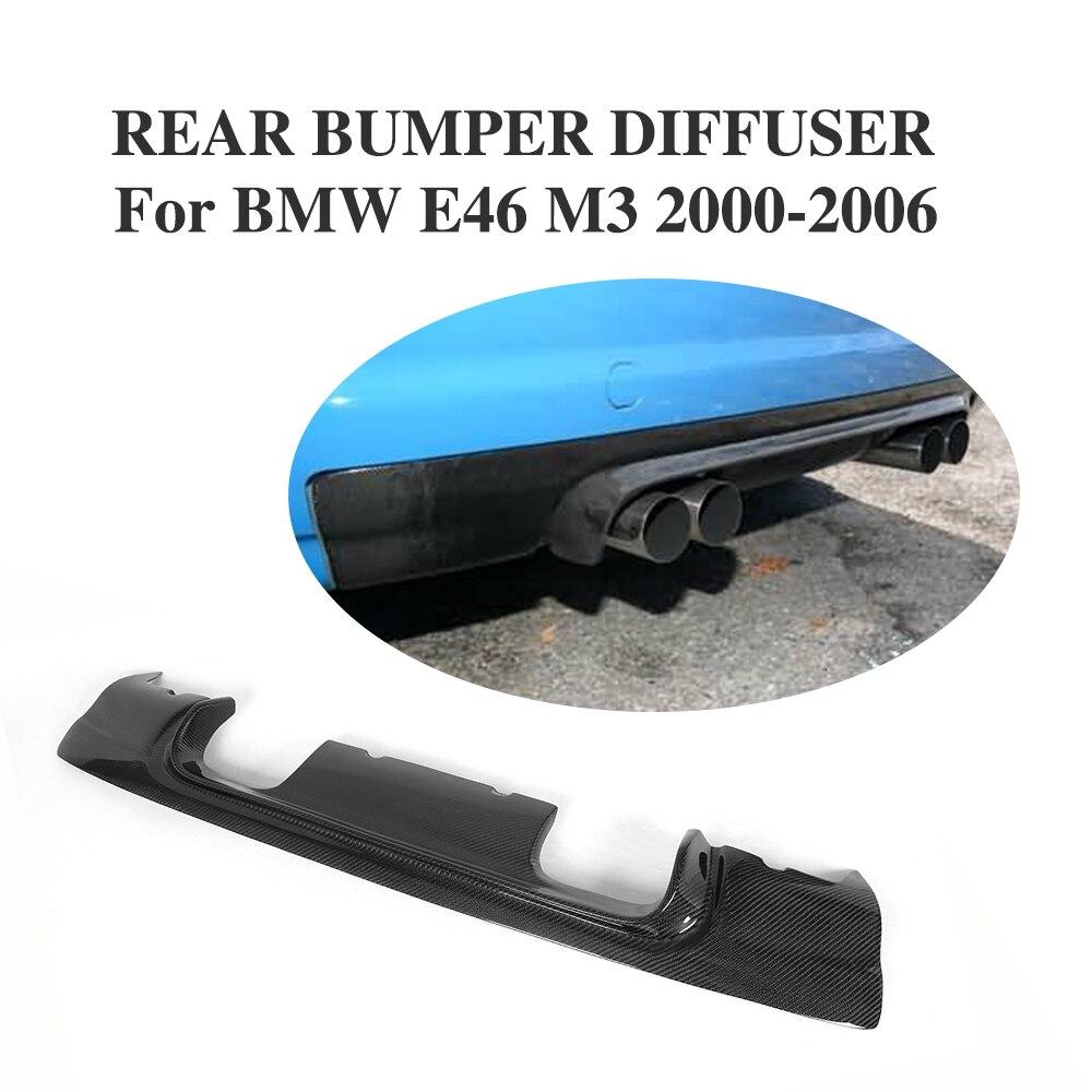 Carbon Fiber Rear Bumper Lip Diffuser Spoiler For Bmw E46 M3 Bumper 2000-2006