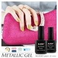 3 шт., Bluesky 2015 новинка металлик гель-лак, Лучшее качество уф из светодиодов лак для ногтей для салона или DIY помощью ногтей гель-лак # M-04