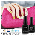 3PCS,Bluesky 2015 New Design Metallic Gel Polish,Best Quality UV LED Gel Nail Polish For Salon OR DIY Using Nail Gel Polish#M-04