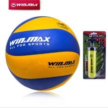 Горячий winmax Официальный вес и размер 5 PU волейбол 8 панелей волейбол внутри здания и открытый тренировочный мяч матч волейбол мяч