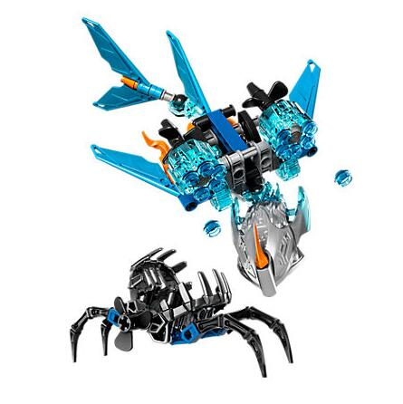 XSZ 609-3 Biochemical Warrior Bionicle Akida Creature of Water Bricks Toy Building Blocks Compatible With Legoings 71302 Toys