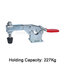 Wholesale 100PCS 227Kg/500Lbs Holding Capacity Metal Clamping Clamp Quick Release Horizontal Toggle Clamp JF1593 цены