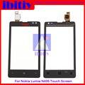 Высокое Качество 4.0 дюймов Сенсорный Экран Дигитайзер Сенсорная Панель Передняя Для Nokia Lumia 435 532 Стеклянный Объектив Бесплатная Доставка