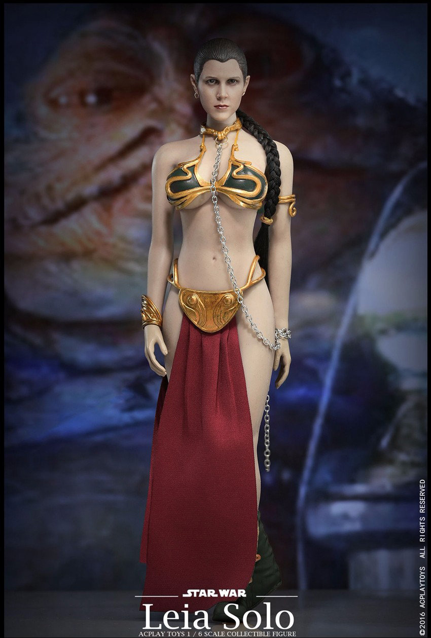 1/6 Star Wars Slave Princess Leia Dress Suit & Head Sculpt Accessories Fit for 12 inches ACPLAY PH Jiaodoll body Figure