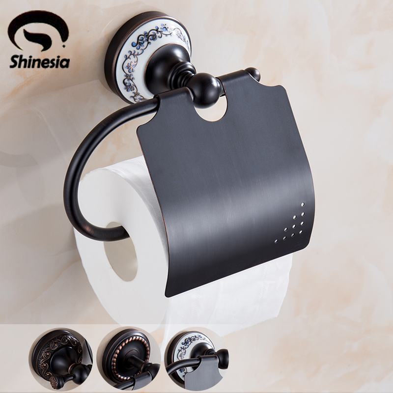 Oil Rubbed Bronze Bathroom Toilet Paper Holder Solid Brass Bathroom Accessories Wall Mount Antique Brass oil rubbed bronze toilet paper holder wall mount tissue box