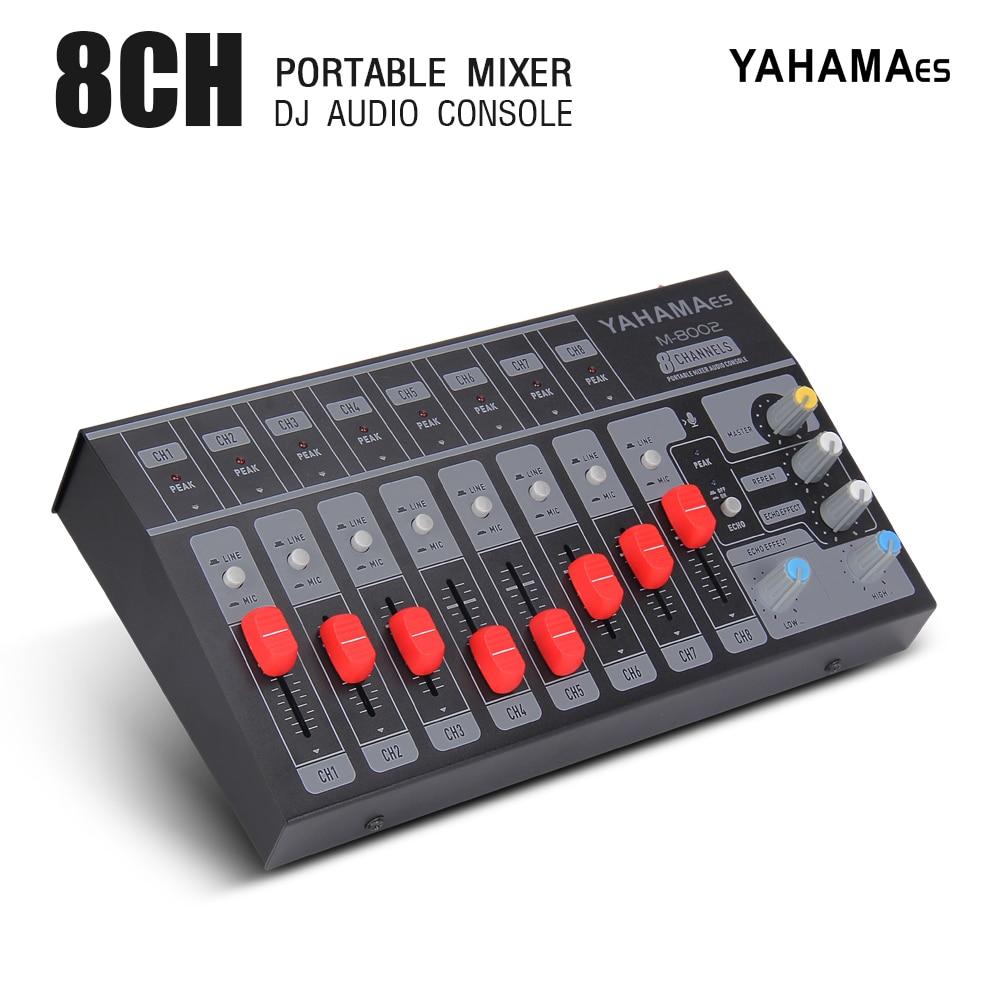 portátil mini mixer console de áudio mixer