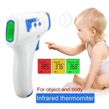 FDA Muti-fuction Baby/Adult Digital Termomete Infrared Forehead Body Thermometer Gun Non-contact Temperature Measurement Device