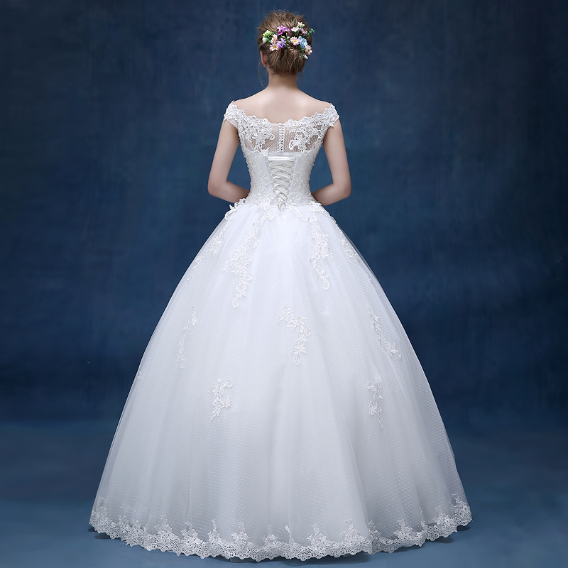 Bridal Lace Tulle A Line Bröllopsklänningar Ärmlös - Bröllopsklänningar - Foto 2