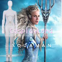Aquaman Atlanna Cosplay Costume Carnival Halloween Costume for Adult Cosplay Queen Atlanna Women Jumpsuit Fancy Costume