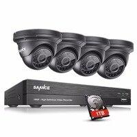 SANNCE 4CH 1080P Security Camera System 1080P CCTV DVR Kit 4 X 1080P 2 0MP Surveillance