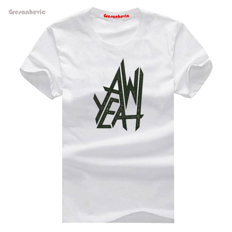 AW YEAH New Fashion Men's T-shirts Short Sleeve Tshirt Cotton Wholesale