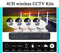 1 TB HDD Plug en Play 4CH Draadloze NVR Kit P2P 720 P HD Outdoor IR Nachtzicht Beveiliging IP Camera WIFI Cctv-systeem Recorder