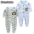 2 UNIDS/LOTE Niñas Bebés Ropa para niños Ropa de Bebé Pijamas Lindos de la Historieta 100% Algodón de Manga Larga Infantil de bebe trajes de bebé mamelucos