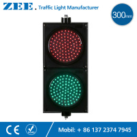 12inches 300mm LED Red Green Traffic Signal Lights 220V 12Vdc 24Vdc LED Traffic Signs