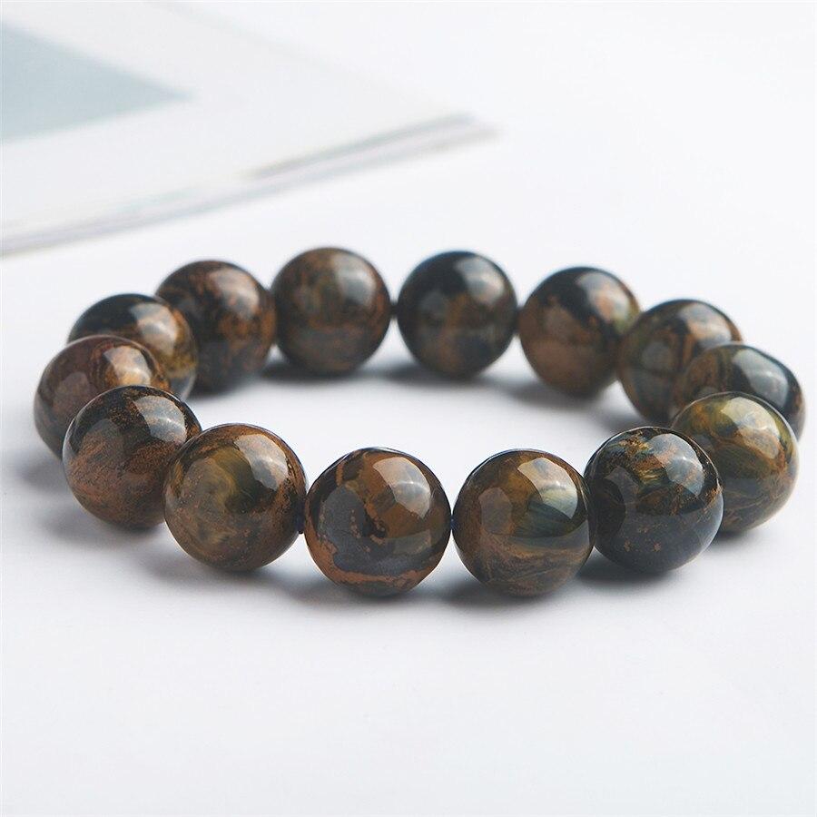 Véritables pierres précieuses naturelles Pietersite pierre cristal extensible puissant Bracelet de perles rondes 16mm
