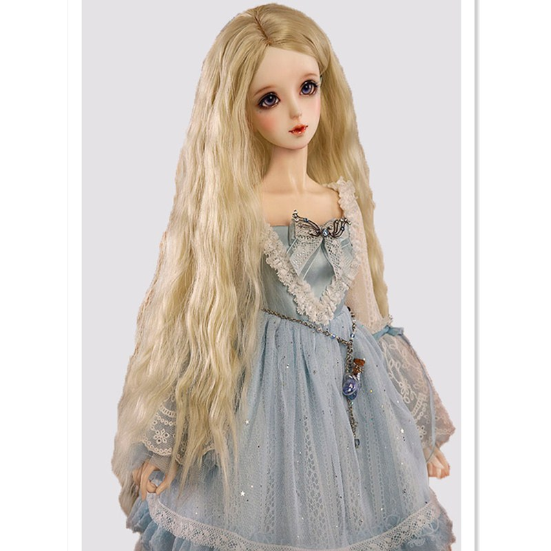 BEIOUFENG 1/3 1/4 1/6 1/8 BJD Doll Wig Long Wavy Wigs SD BJD Wig,Curly Hair Wigs for Dolls Accessories,Many Colors for Choice luo black fur wig for 1 3 1 4 1 6 bjd sd doll bjd wigs short wig for diy dollfie doll accessories