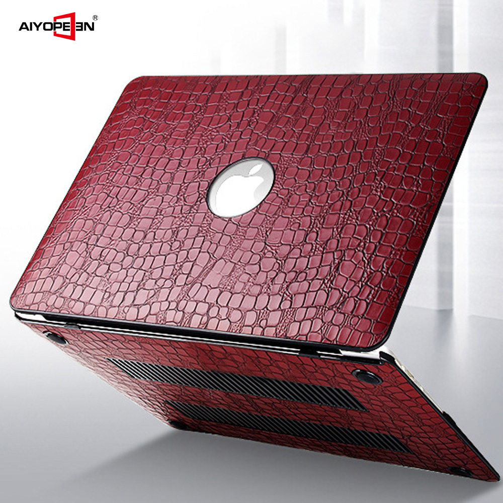 For MacBook Air 13 Case, Aiyopeen PU Leather With Hard Plastic Bottom Cover For MacBook  Air Pro Retina 11 12 13 15
