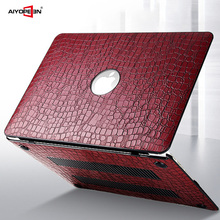 for macbook air 13 case crocodile skin pattern pu leather with hard plastic bottom cover for macbook air pro retina 11 12 13 15