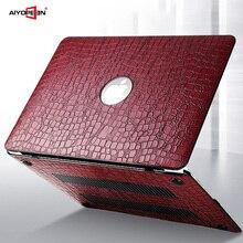 Macbook air 13 케이스의 경우 macbook air pro retina 11 12 13 15 용 하드 플라스틱 바닥 커버가있는 aiyopeen pu 가죽