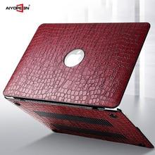 Pour étui MacBook Air 13, cuir Aiyopeen avec couvercle inférieur en plastique dur pour MacBook Air Pro Retina 11 12 13 15