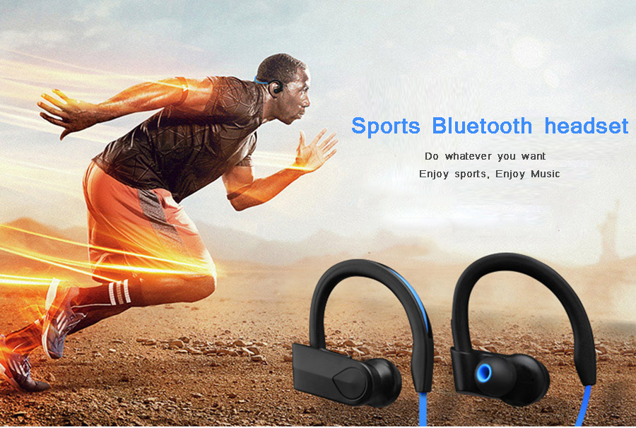 Sport Bluetooth Earphones Wireless Headphones Stereo Bass Earbuds Headset