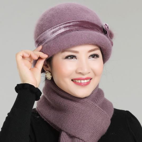 2018 tendencia gorros de invierno para mujeres estilo francés lana Baker  chico sombrero fresco de la 4d479155bda