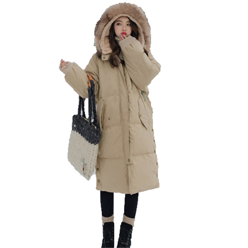Chaud Capuche Plus À Kw127 Lady Taille Survêtement Hiver Casual Kulazopper brick Veste Poches Red De Fourrure Parka Col Femme Manteau Grand Épaissir Kahki La Long T5Ww1paPq