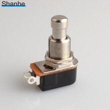 Interruptor momentâneo do pedal, botão momentâneo do botão do toque macio do spst, pedal do pé, interruptor da guitarra elétrica, desligamento momentâneo, 1 peça