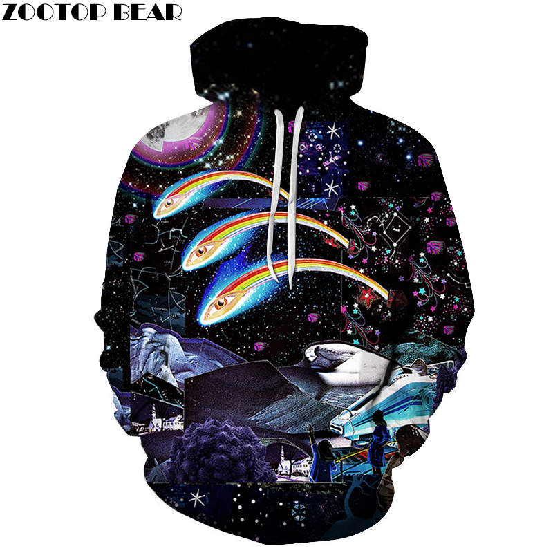 Space universe 3D Printed Sweatshirts Men Women Hoodies Boy Pullover 6XL Fashion Tracksuits Hot Sale Male Outwear Novelty Coat