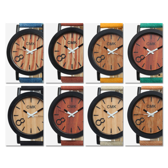 Fashion Luxury Imitation Wood Grain Watch Men Women Simple Casual Leather Clocks Mens Watches Couple Sports Quartz Wristwatch