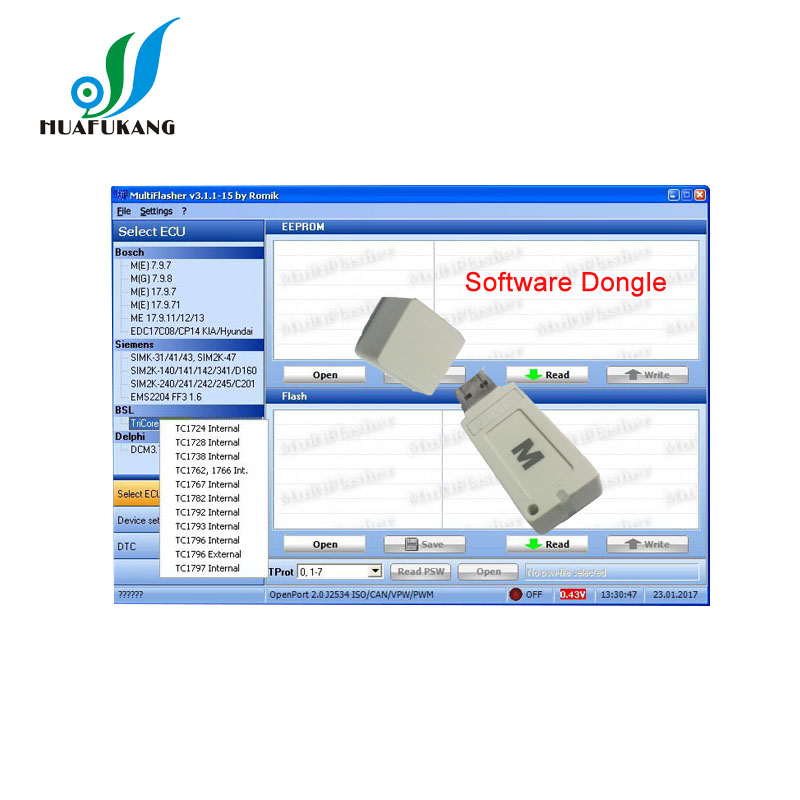 US $40 79 |MultiFlasher ECU Chip Tuning Software work for H yundai Kia car  model Supports J2534 OpenPort 2 0 interface-in Software from Automobiles &