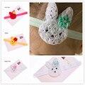 2pcs Easter Hair Bows Baby Bunny Headband Cute Rabbit Bow Hairband Flower lace Rabbit Bunny Ears Headband Easter Gift