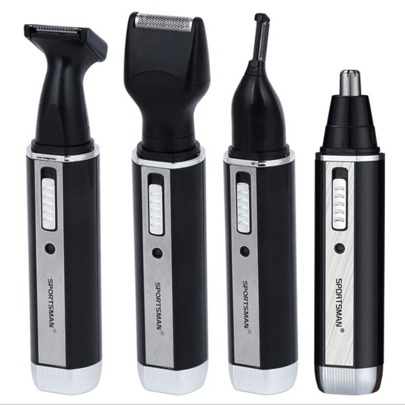 4 in 1 man grooming kit electric nose hair trimmer beard shaver razor styling clipper all in one sideburn haircut shave removal